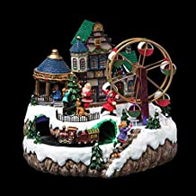 Village de Noël lumineux en fête