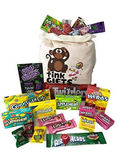 Der USA Amerikanische Eine | Amerikanische Süßigkeiten Geschenkkorb | Amerikanische Süßigkeit USA Geschenktüte | Candy Hamper Süßwaren & Schokolade Auswahl Box Bundle | Fink Gifts (Lemonhead Candy)