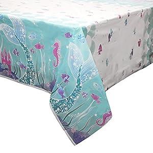 Mantel de Plástico - 2,13 m x 1,37 m - Fiesta de Sirena
