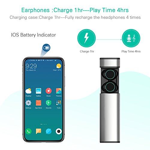 HolyHigh Bluetooth Kopfhörer in Ear Bluetooth Headset Stereo-Minikopfhörer mit Ladekästchen und integriertem Mikrofon für Android und iPhone … - 3