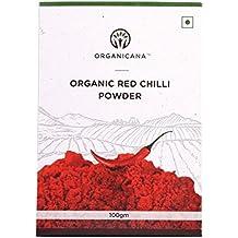 Organicana Organic Fresh and Healthy Red Chilli/Lal Mirch Powder- 100gram