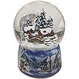 Bola de nieve de porcelana con casas invernales