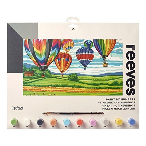Reeves - Creatividad - Pintar por números - Grande, globos aerostáticos