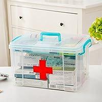 yiyaoxia.g。 Ménage multifonctionnel Kit plastique Kit de premiers soins joint la médecine familiale Fort,8L