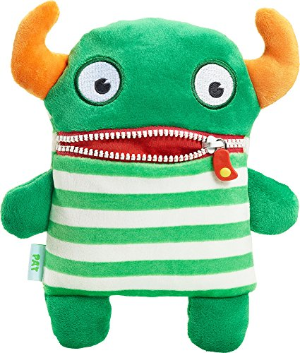 Schmidt Spiele Pat Monstruo Felpa Verde, Naranja, Color Blanco - Juguetes de Peluche (Monstruo, Verde, Naranja, Color Blanco, Felpa, Niño, 50 g)