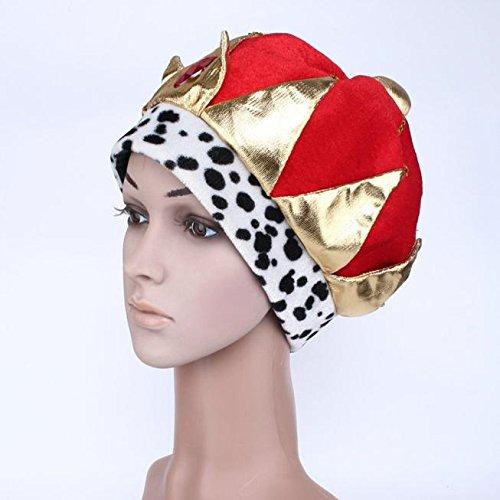 Spielzeug -Artistic9 Halloween König Kostüm Red King Crowns Pharao Prinz Hut Halloween Maskerade Cosplay Zubehör Karneval Party Prom Ball Kostümdekorationen für Kind Jungen (Kings Crown Kostüm)