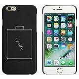 Azeeda Schwarz 'Batterie' Hülle für iPhone 6 u. 6s (MC00031713)