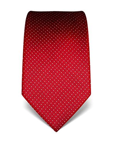 Vincenzo Boretti Herren Krawatte aus reiner Seide, gepunktet,rot