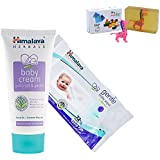 Himalaya Herbals Baby Cream (200g)+Himalaya Herbals Gentle Baby Wipes (72 Sheets) With Happy Baby Luxurious Kids Soap With Toy (100gm)