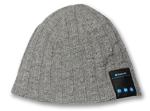SportXtreme Cappello Parlante con Auricolari, Microfono e Bluetooth Integrati per Ascolto Musicale e Risposta alle Chiamate Smartphone, Lavorazione a Maglia, Compatibile IOS e Android, Batteria Ricaricabile agli Ioni di litio 3.7V / 120mAh, 50% Lana/50% Acrilico, Grigio