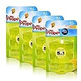 4x Mr.Proper Nachfüller Ambi Pur 5in1 Lemon & Lime WC-Stein flüssig, 3x55 ml