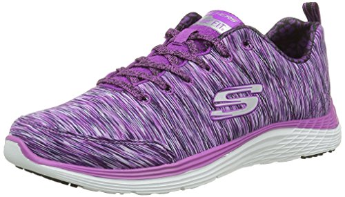Skechers (SKEES) Valeris Full Force, Scarpe da Ginnastica Basse Donna, Viola (PUR), 39