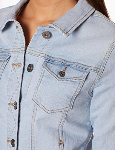 Berydale Damen Jeansjacke mit modischer Waschung, Hellblau, Gr. 34 - 5