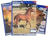 2 Stück Pelikan 224840 - Zeichenblock DIN A3 20 Blatt 100gr, 1 Stück, mehrfach sortiert