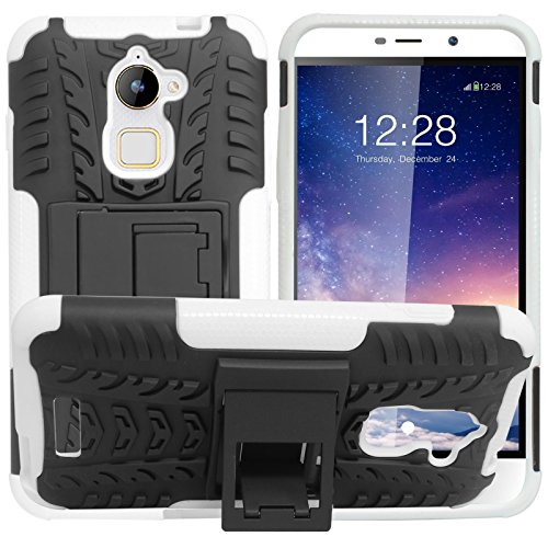DMG Rugged Back Cover Mesh Kickstand Armor Case for Coolpad Note 3 Lite (White)