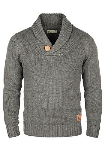 SOLID Paddy - Maglione da Uomo, taglia:L;colore:Grey Melange (8236)