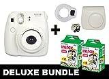 Fujifilm Instax Mini 8 - Fotocamera istantanea con rullino da 40 foto, colore bianco, inclusi custodia e specchio per selfie di colore bianco.