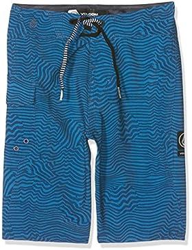 Volcom Magnetic Stone Pantalón Surfs hort Azul Bañador infantil, niño, Kinder Magnetic Stone Boardshort Badehose...