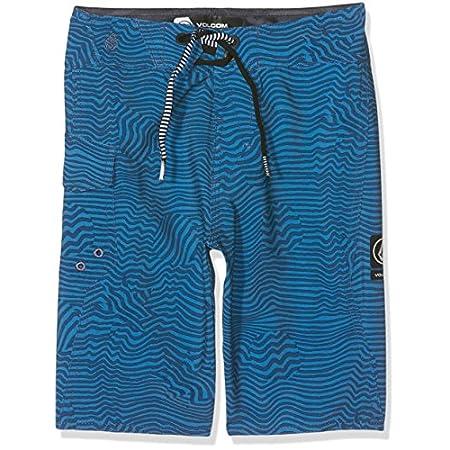 Volcom Enfants Magnetic Stone Surfs Short de Bain pour Homme Bleu Garçon, Garçon, Kinder Magnetic Stone Boardshort Badehose Surfshort Blau