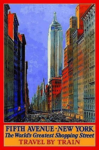 generisch Blechschild 20x30 Reklame Reise Plakat New York Fifth Avenue Retro Metall Schild