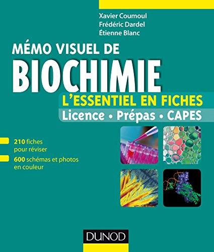 Mémo visuel de biochimie : L'essentiel en fiches et en couleurs (Tout en fiches)