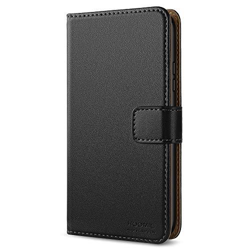 HOOMIL Microsoft Lumia 640 Hülle, Handyhülle für Microsoft Lumia 640 Tasche Leder Flip Case Brieftasche Etui Handy Schutzhülle - Schwarz (H3127)