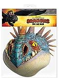 Nadder - How to Train Your Dragon Maske Papp Maske, aus hochwertigem Glanzkarton mit Augenlöchern, Gummiband - Grösse ca. 30x20 cm