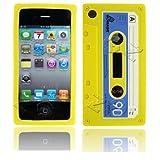 Gadget Zoo Coque en gel de silicone pour Apple iPhone 3G/3GS Motif cassette rétro