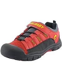 Walisen Zapatillas de Senderismo Unisex Niños Camper Trekking Sneaker Low Rise Transpirable Escarpines