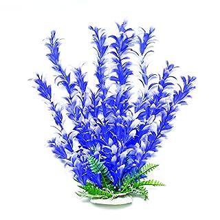 Aquatop Aquatic Supplies 003506 Bacopa-Like Aquarium Plant Blue/White, 12