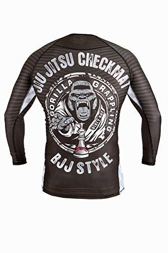 Dirty Ray Kampfsport Jiu Jitsu Checkmat Kompressions Langarm Rashguard T-Shirt RG12LS
