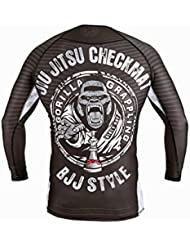 Dirty Ray Arts Martiaux Jiu Jitsu Checkmat t-shirt manche longue rashguard homme RG12LS