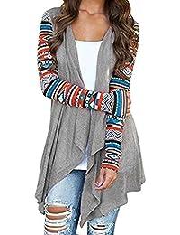 Mode Strickjacke Damen Lässig Winter Warm Langarm Outwear