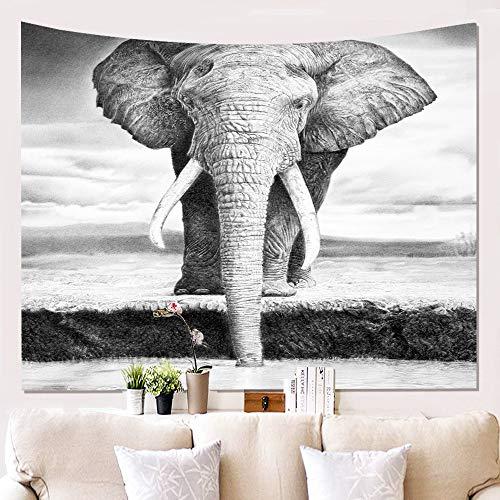 TapTheDecor Tapiz De Pared,Elefantes Voladores,Bohemio Trippy Indio Hippie Psicodélico Tejido Animal Print,Rectangular...