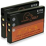 Bundle - 2x Power Batterie Fuji NP-60 / Casio NP-30 / HP L1812A / R07 / A1812A / Kodak Klic-5000 pour Fujifilm FinePix 50i | 601 | 401 | 410 | F401 | F401 Zoom | F410 | F601 | F601 Zoom | F700 | M603 | HP Photosmart R07 | R507 | R607 | R607 Gwen | R607xi | R707 | R707v | R707xi | R717 | R725 | R727 | R817 | R817v | R818 et bien plus encore...