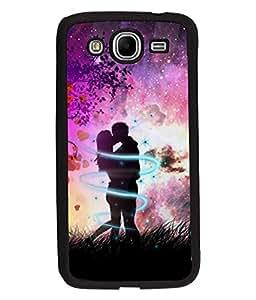 Fuson Love Couple Back Case Cover for SAMSUNG GALAXY MEGA 5.8 - D3962