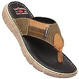 Lee Cooper Men's Olive Flip Flops Thong Sandals-8 UK/India (42 EU)(LC8100)