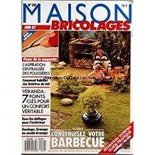 MAISON BRICOLAGES [No 20] du 01/06/1987 - CONSTRUISEZ VOTRE BARBECUE - L'ASPORATION CENTRALISEE DE POUSSIERES - COMMENT HABILLER VOS FENETRES DE TOIT - VERANDA - 7 POINTS CLES POUR UN CONFORT VERITABLE - TOUS LES DALLAGES POUR L'EXTERIEUR - SOUDAGE - BRASAGE OU SOUDO-BRASAGE