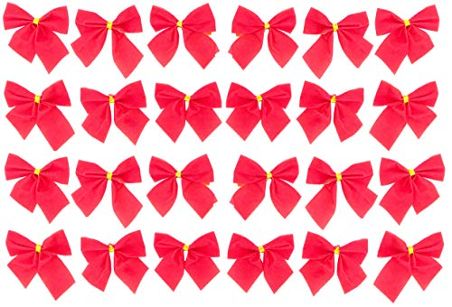 CHRISTMAS CONCEPTS® Pack 24 Lazos Terciopelo Rojo