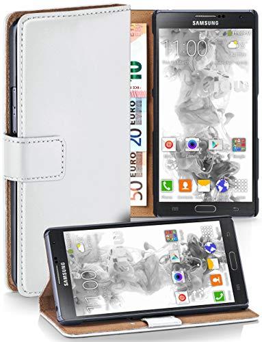 moex® Booklet mit Flip Funktion [360 Grad Voll-Schutz] für Samsung Galaxy Note 3 | Geldfach und Kartenfach + Stand-Funktion und Magnet-Verschluss, Weiß - Galaxy 3 Leather Wallet Case Note