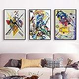 Quadri Famosi Astratti Famosi su Tela Dipinti su Tela Wassily Kandinsky Poster Wall Art Picture per Soggiorno Decorazioni per la casa Senza Cornice 50 * 70 cm * 3 Pezzi