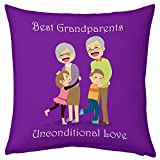 Gift For Family Grandparents Grandma Grandpa Grandchildren Birthday Anniversary Unconditional Love Violet Small Cushion with Filler 12X12 Home Decor Everyday Gifting