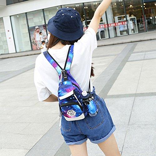yfbear impermeabile zaino Sling Sling Bag Tracolla Borsa A Tracolla Zaino Daypack Crossbag Zaino per fotocamera con tracolla regolabile perfetto per RSport all' aria aperta, escursionismo, ciclismo, a cielo