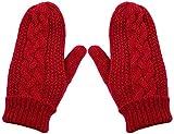 Wooly Bugged Kinder Handschuhe Fleecefutter Warm Fäustlinge Rot, 3-6 Jahre