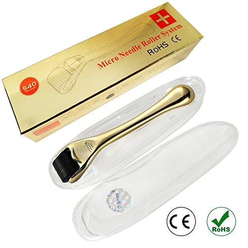 Premium Dermaroller von S-Beauty Deutschland mit 540 Nadeln, gegen tiefe Narben und schwere Cellulite, CE und ROHS Sichertest (Gebrauchsanweisung auf Deutsch) (0,25)