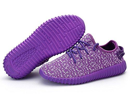Peggie House,Uomo Donna Scarpe Da Sportive Running Basket Sneakers Rosa Blu Viola Size 35-40 Viola