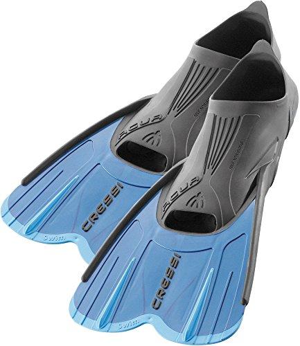 Cressi Agua Short, Aletas de Snorkeling Unisex, Azul/Azul Claro, 45/46