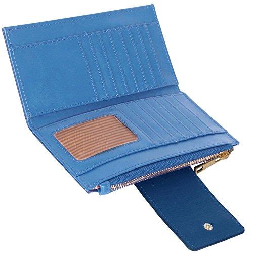 xardi London strutturato in pelle sintetica-Portafoglio da donna moneta di denaro da viaggio Borse Blue/Sky Blue