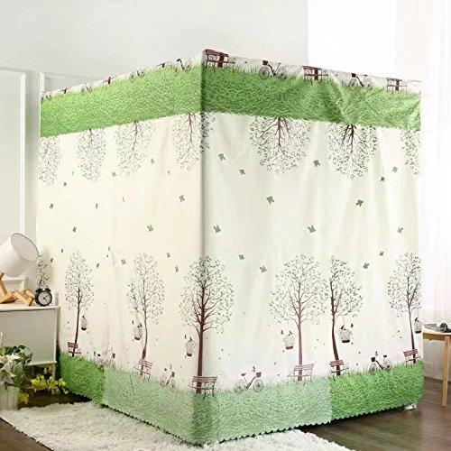 Preisvergleich Produktbild Mayihang Moskitonetz Haushalt Bett Vorhang Staubdicht Dach Nachweis Schatten Tuch Schlafzimmer mit Doppelbett 1,5 m 1,8 m Bett Moskitonetz, eine Liebe Baum (ohne Gerüst), 1,8*2,2 m Bett