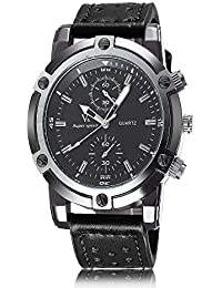 iSweven Fashion V6 Series big dial Men's sports watch and good quartz performance Analogue Black Unisex Wrist Watch w1056e